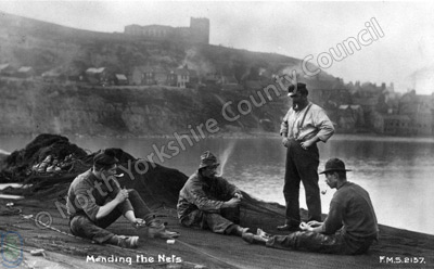Whitby: mending nets